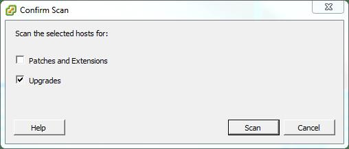 Update Manager Upgrades Dialog