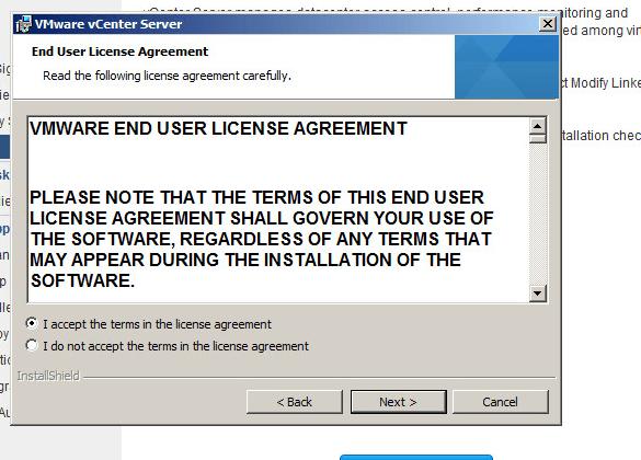 vcenter server upgrade step 4