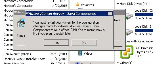java component uninstall step 3