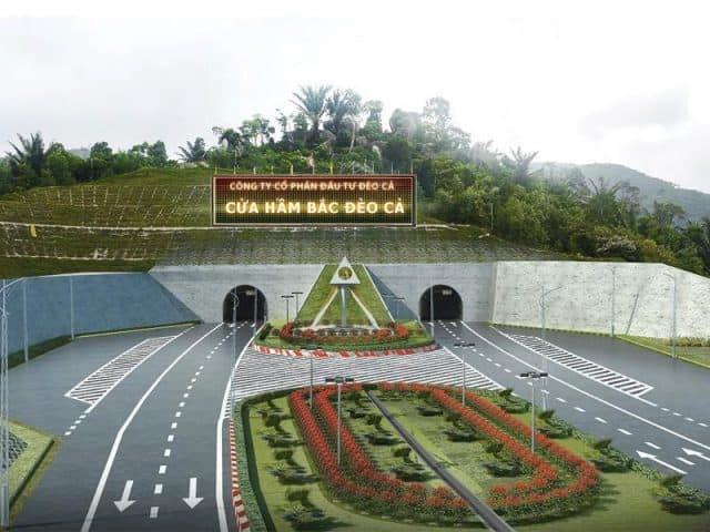 Hầm đường bộ qua Đèo Cả sẽ khánh thành vào tháng 8/2017 (ẢNH ST)