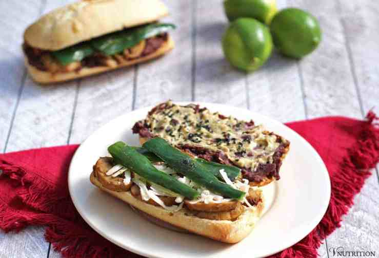 This Black Bean and Poblano Chile Torta (sandwich) is an amazingly tasty sandwich recipe from Jason Wyrick's new book Vegan Mexico.
