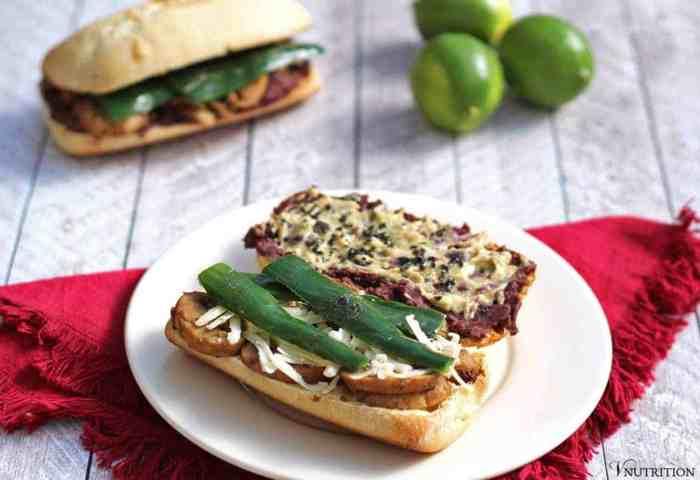 Black Bean And Poblano Chile Torta Vegan Mexico Book Review
