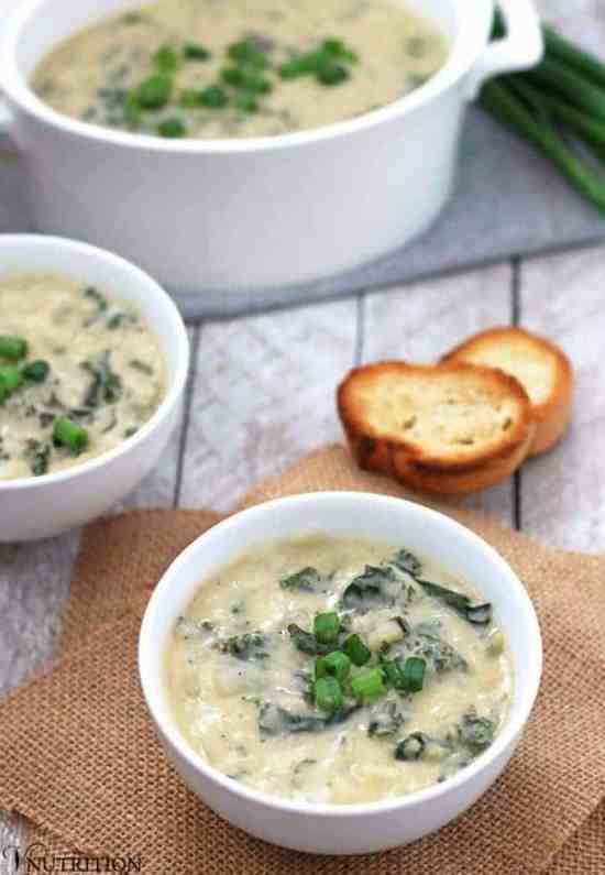 Vegan Irish Colcannon Soup | This Vegan Colcannon Soup is a twist on the Irish classic and is filled with potatoes and kale. Perfect for St Patrick's Day or when you need a cozy meal. vegan soup, vegan recipe
