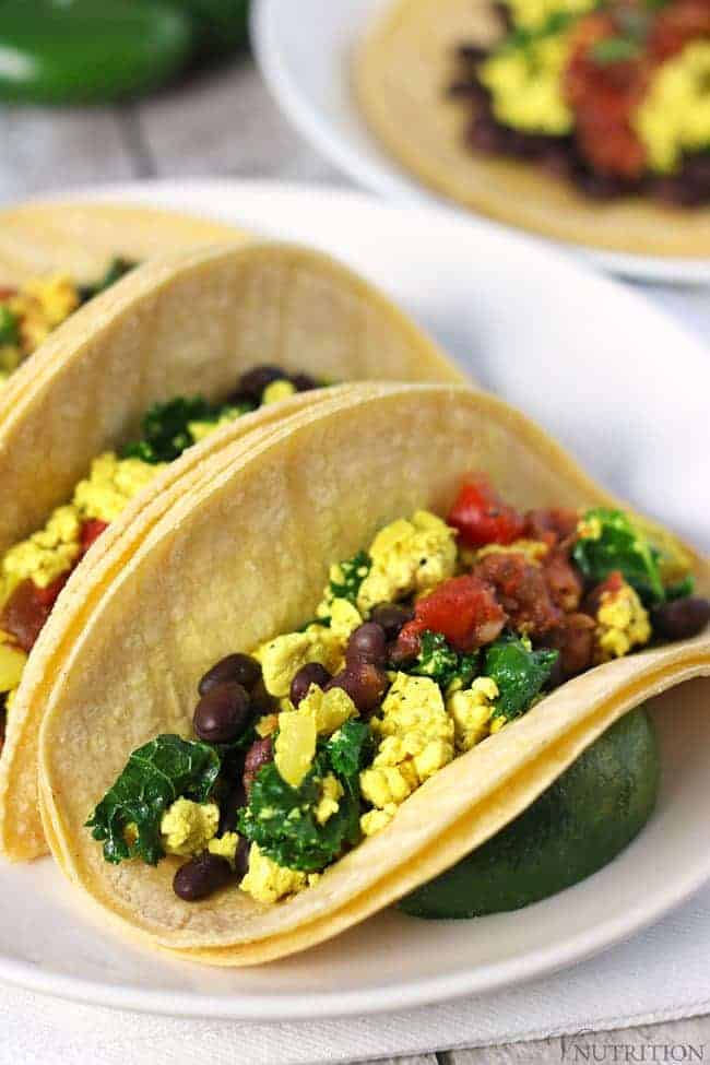 Vegan Breakfast Tacos | These Vegan Breakfast Tacos are a savory take on breakfast with a Mexican-inspired twist. vegan breakfast recipe, vegan tacos, vegetarian tacos