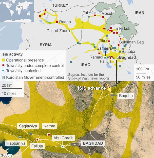 Mujahidin ISIS Semakin Mendekati Baghdad