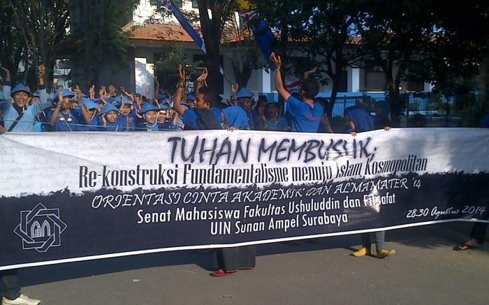 Naudzubillah! 'Tuhan Membusuk' Tema Ospek Fakultas Ushuluddin dan Filsafat UIN Surabaya