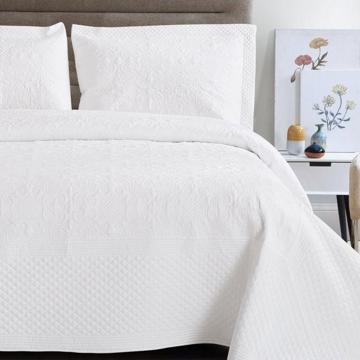 harvard white bedding