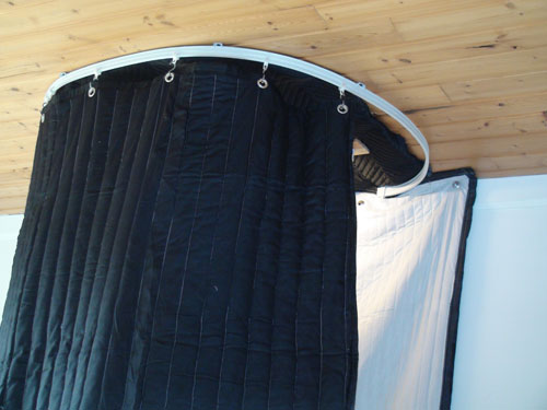 Vocal Booth On Tracks 7 Ft Ceiling Track Kit Portable Vocal Booth