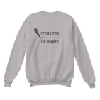 sweat shirt chanteur chanteuse chanter répétition