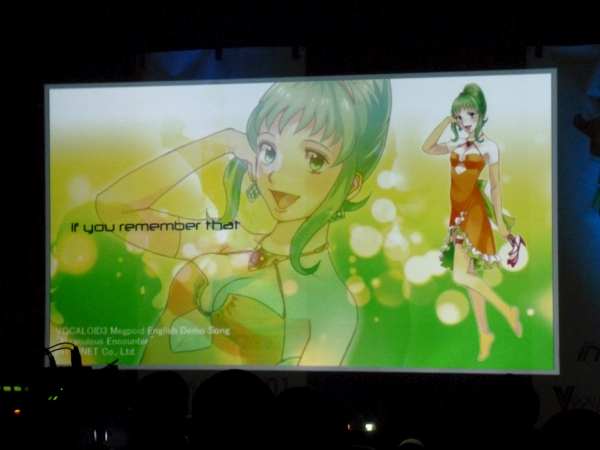 "The music video for ""Miraculous Encouter"" was shown on the screen"