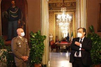 Il sindaco di Palermo Leoluca Orlando e il colonnello Mario Rea_2