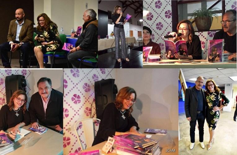 """En exitosa gira presenta Reina Castro su libro """"Versos de Mariposa""""."""