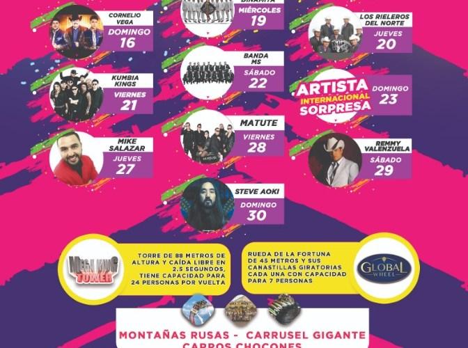 Presenta Alcalde cartelera de la Feria Juárez 2019