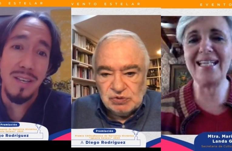 Entregan Premio Ignacio Solares 2020 a Diego Rodríguez Landeros