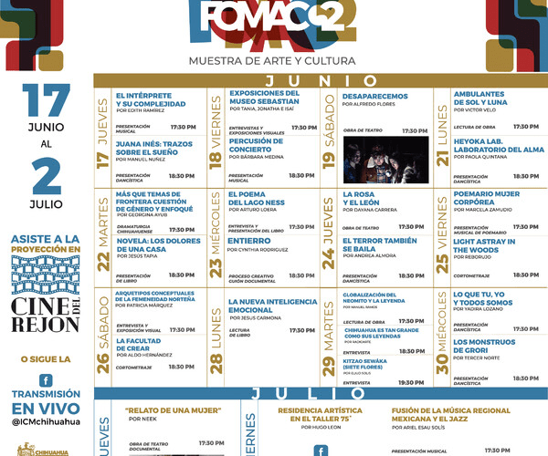 Gobierno Municipal invita a muestra de arte, cultura y proyecciones gratuitas en Cine de El Rejón