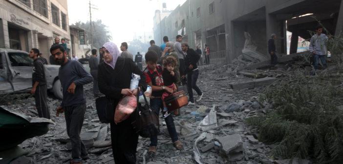 GazaFamilyFlees