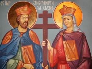 †) Sf. Împăraţi, întocmai cu Apostolii, Constantin şi mama sa Elena (Dezlegare la peşte)