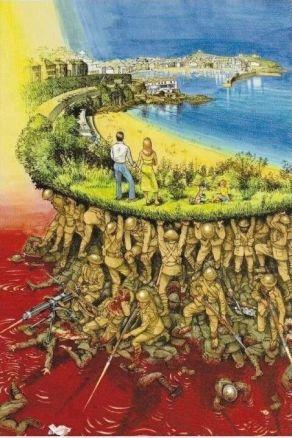 Pictura reprezentand perspectiva luptelor trecut si prezent