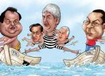 spagatul politic caricatura