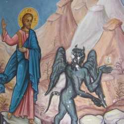 Iisus Hristos si satana in Carantania ispitirea Cernica