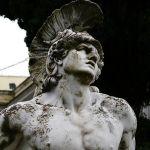 Achile statuie corfu grecia
