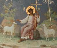 Blândul Păstor pictura murala bisericească
