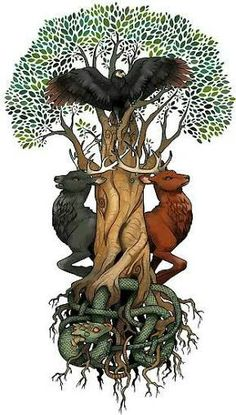 Dain Duneyr Durathror Dvalin cei patru cerbi mitici