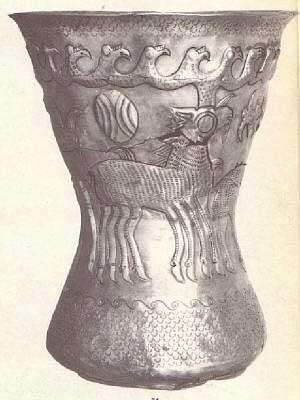 cerbul Sarabha cu opt picioare si coarnele sub forma de cosoroaba