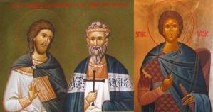 Sfinții Mucenici Chiril, Chindeu și Tasie