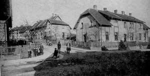 Fertiggestellte Siedlung der Baugnossenschaft 04 (Quelle: Saarstahl AG)