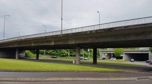 B51: Diese Brücke ist in einem schlechteren Zustand als die Fechinger Talbrücke! (Foto: Hell)