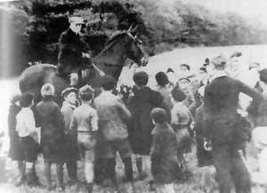 Hermann Röchling zu Pferd - Quelle: Die Gründerfamilie Röchling