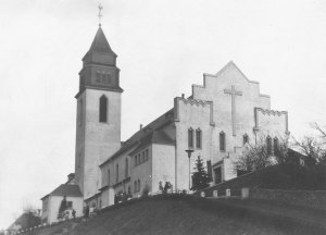 Herz-Jesu mit Turm (Private Sammlung)