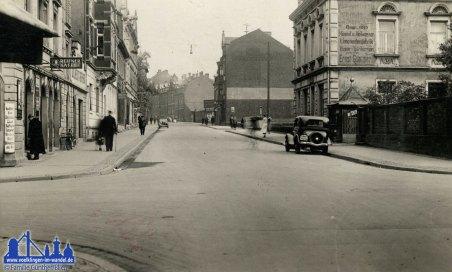 Die Poststraße in den 1930er Jahren © Blien