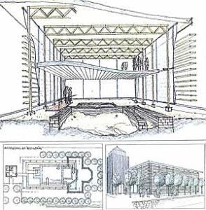 Vorschlag zur späteren Gestaltung des Geländes