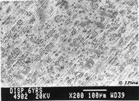 Bild på vad som händer när man putsar och slipar på amalgam