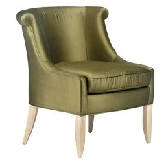 Olive Green Velvet Accent Chair Antique Folding Rocking Wood 11838 - Vogel By Chervin