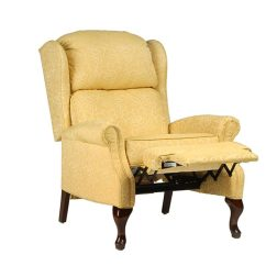 Caps For Chair Legs Price Of Covers In Cape Town 15433 Queen Anne Recliner - Vogel By Chervin