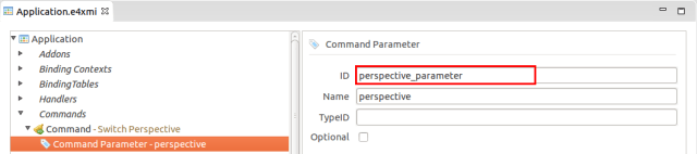 Add a parameter to a command