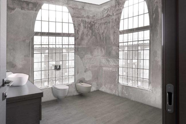 Carta da parati 3d per il bagno