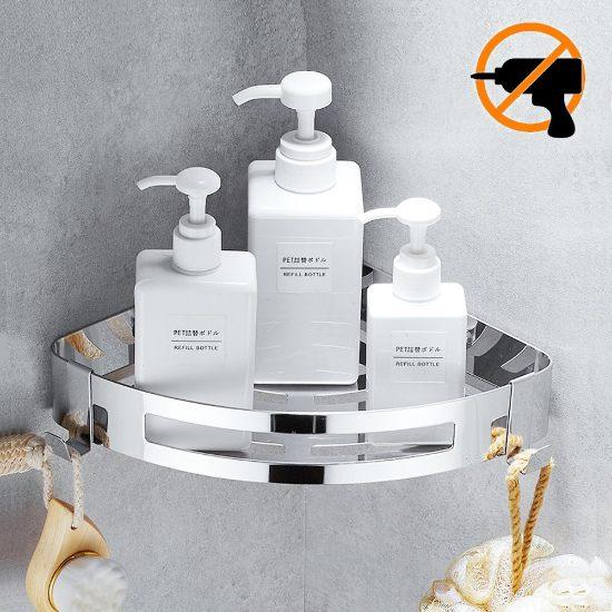 Mensola angolare adesiva doccia