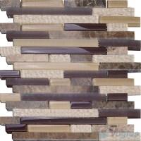 Seal Linear Glass Stone Mosaic Tiles VB-GSL99 - Voglus Mosaic