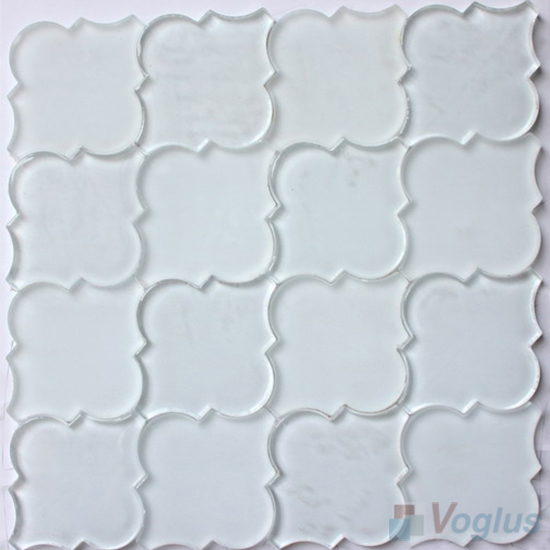 pure white lantern shape water jet glass tile mosaic vg uwj96 voglus mosaic