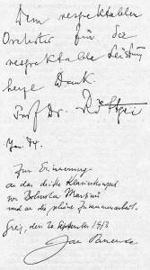 Orchestergästebuch Staatl. Sinfonieorchesters Greiz
