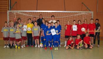 32. Rudi-Geiger-Turnier im Hallenfußball für die Jahrgänge 2000 bis 2002 in der Ulf-Merbold Sporthalle Greiz