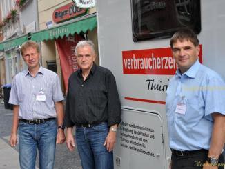 Infomobil der Thüringer Verbraucherzentrale im Landkreis Greiz unterwegs