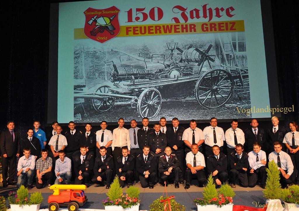 Greizer Feuerwehr feiert 150-jähriges Jubiläum