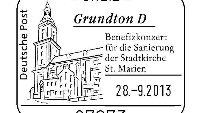 Sonder-Poststempel zum Grundton D-Konzert in Greiz