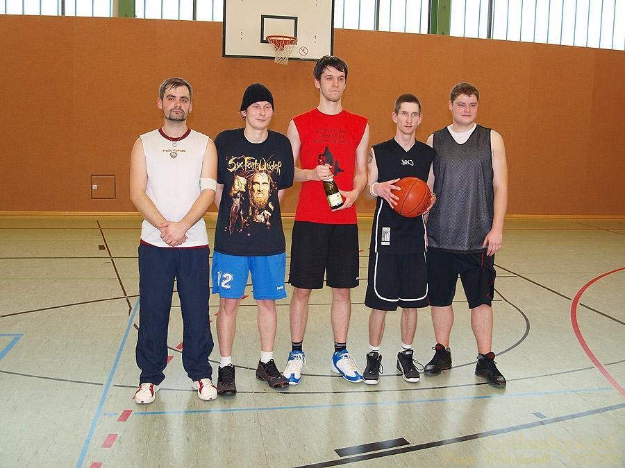 Werbung für den Basketball an der Regelschule Greiz-Pohlitz