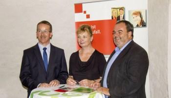 Sponsoringvertrag auf der Osterburg in Weida